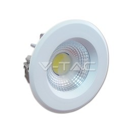 1100 - LED COB Downlight Reflector White Body - 10W White