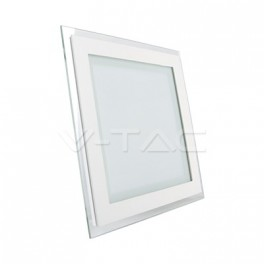 4839 - LED Downlight glass - 12W, square, changing color (3000K, 4500K, 6000K)