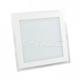 4838 - LED Downlight glass - 18W, square, changing color (3000K, 4500K, 6000K)