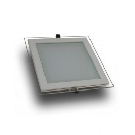 4737 - LED Mini Panel /Downlight Glass - 6W, Square, White