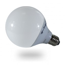 4276 - LED Bulb - 10W, E27, G95, Thermoplastic, Watm white