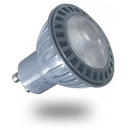 1615 - LED Spotlight - GU10, 5W, Plastic, Warm white