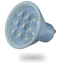 1621 - LED Spotlight - 3W, GU10, Plastic, Warm white