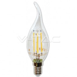 4302 - LED Bulb Filament - E14, 4W, Candle, Flame, Warm white