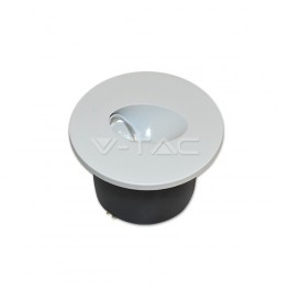 1208 - LED Steplight - 3W, Daywhite, Round