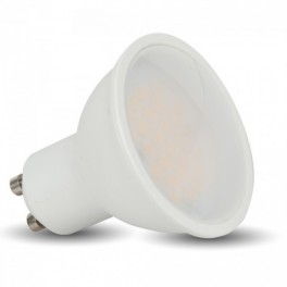 1684 - LED Spotlight - 7W, GU10, White, White plastic