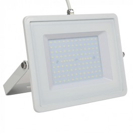 LED Floodlight - 100W, with Samsung Chip, SMD, 5 Years Warranty, White Body, White