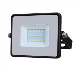 LED Floodlight - 10W, with Samsung Chip, SMD, 5 Years Warranty, Black Body, White