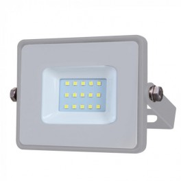LED Floodlight - 10W, with Samsung Chip, SMD, 5 Years Warranty, Gray Body, White
