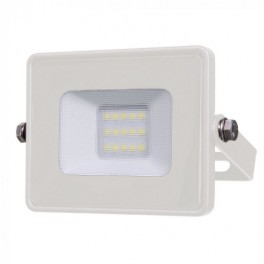 LED Floodlight - 10W, with Samsung Chip, SMD, 5 Years Warranty, White Body, White
