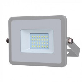 LED Floodlight - 20W, with Samsung Chip, SMD, 5 Years Warranty, Gray Body, Natural White