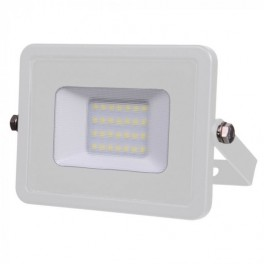 LED Floodlight - 20W, with Samsung Chip, SMD, 5 Years Warranty, White Body, White