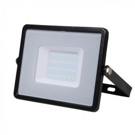LED Floodlight - 30W, with Samsung Chip, SMD, 5 Years Warranty, Black Body, Natural White