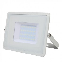 LED Floodlight - 30W, with Samsung Chip, SMD, White Body, 5 Years Warranty, Natural White