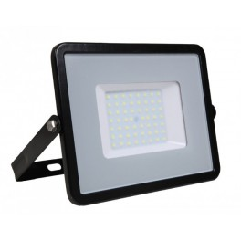 LED Floodlight - 50W, with Samsung Chip, SMD, 5 Years Warranty, Black Body, Natural White