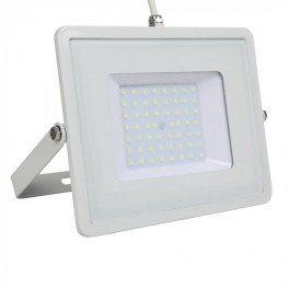 LED Floodlight - 50W, with Samsung Chip, SMD, 5 Years Warranty, White Body, Natural White