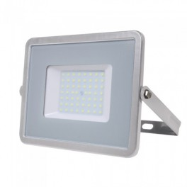 LED Floodlight - 50W, with Samsung Chip, SMD, 5 Years Warranty, Grey Body, Natural White