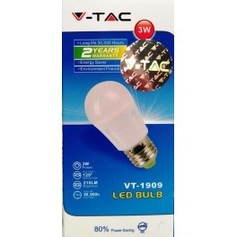 4120 - LED Bulb - 3W E27 A40 Epistar Chip White