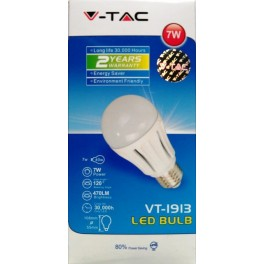 4134 - LED Bulb - 7W E27 Samsung Chip White