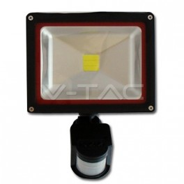 5229 - 20W LED Floodlight V-TAC Sensor - BRIDGELUX 4500K - NEW