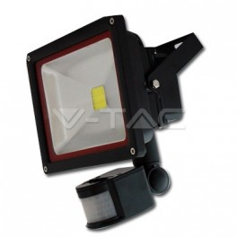 5230 - 30W LED Floodlight V-TAC Sensor - BRIDGELUX 4500K - NEW