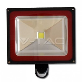 5231 - 50W LED Floodlight V-TAC Sensor - BRIDGELUX 4500K - NEW