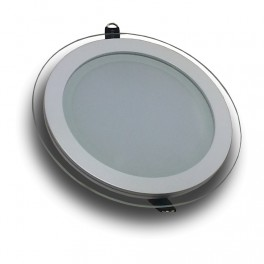 4740 - 6W LED Mini Panel / LED Downlight Glass - Round Warm White